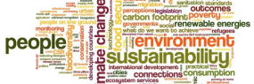 Tag cloud people, environment, sustainability